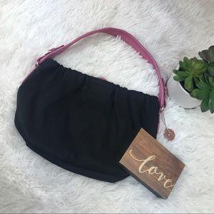 THE SAK black and pink shoulder bag purse